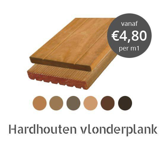 Hardhout vlonderplanken