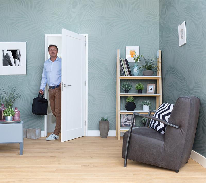 Binnendeur Sense | Move stomp gegrond wit