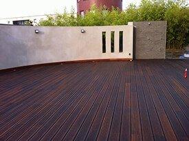 Donkere CoBam bamboe terrasplanken