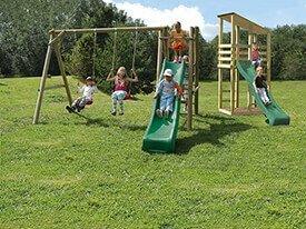 Elephant - Schommel met glijbaan - Laat de kids maar spelen!