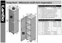 Steigerhout Smalle Kast